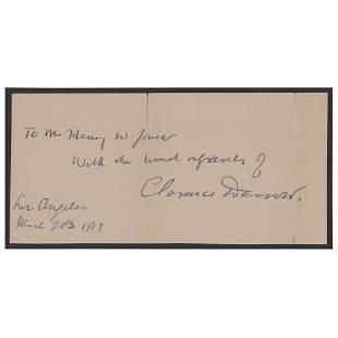 Clarence Darrow Signature