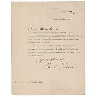 Anthony Eden Typed Letter Signed