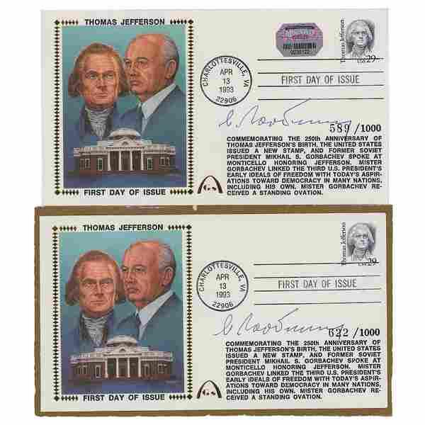 Mikhail Gorbachev (2) Signed Gateway Covers
