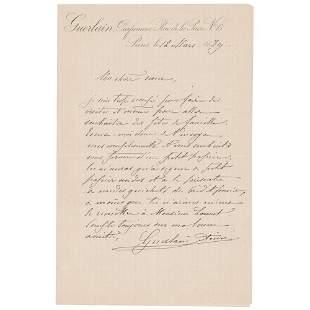 Aime Guerlain Autograph Letter Signed