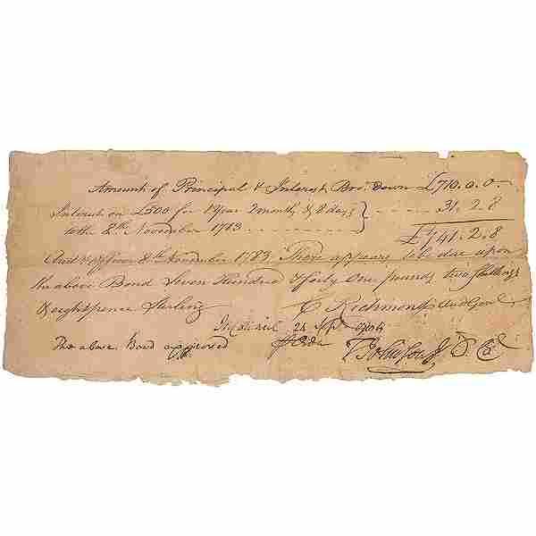 Thomas Johnson Document Signed