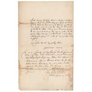 Gouverneur Morris II Document Signed