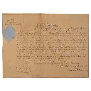 Queen Victoria Document Signed