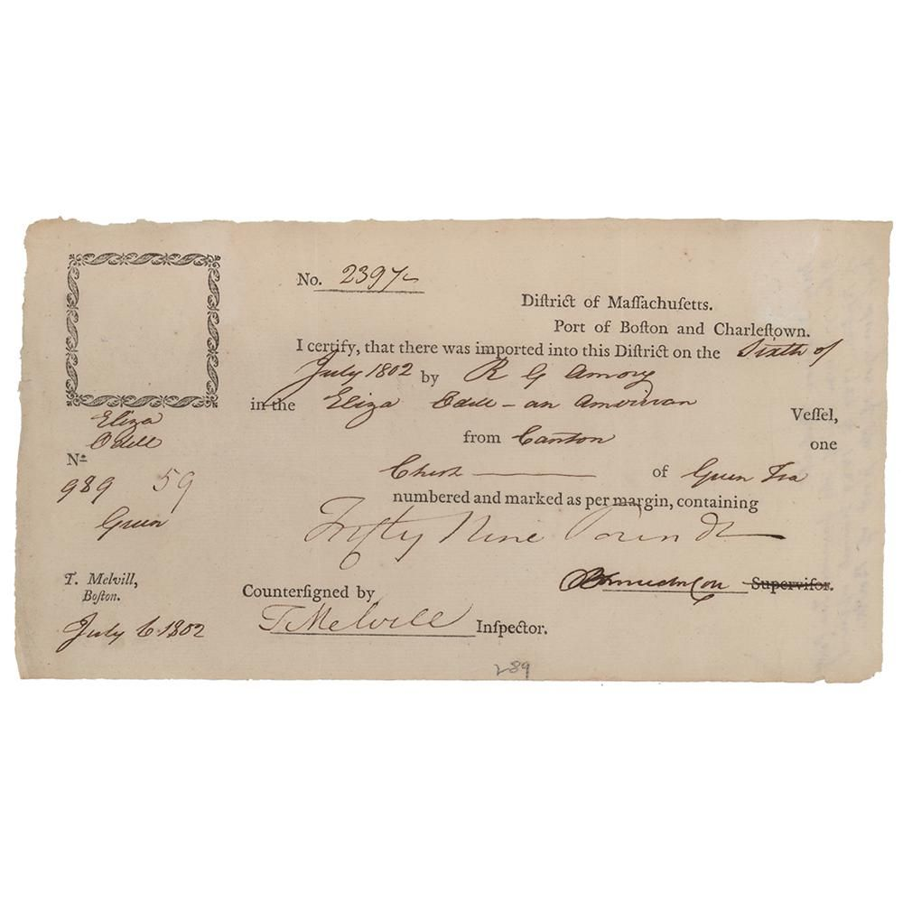 Benjamin Lincoln and Thomas Melvill Document Signed