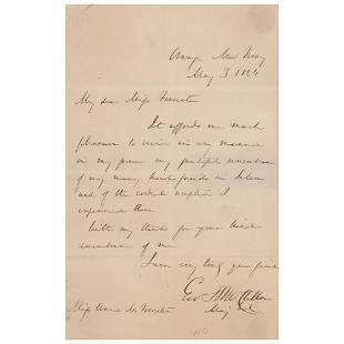 George B. McClellan Autograph Letter Signed