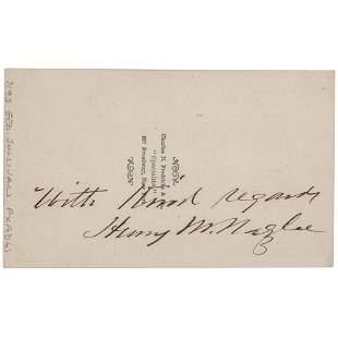 Henry Morris Naglee Signed Photograph