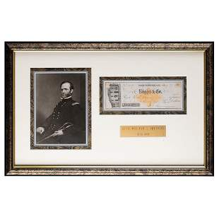 William T. Sherman Signed Check
