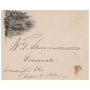 William T. Sherman Signature