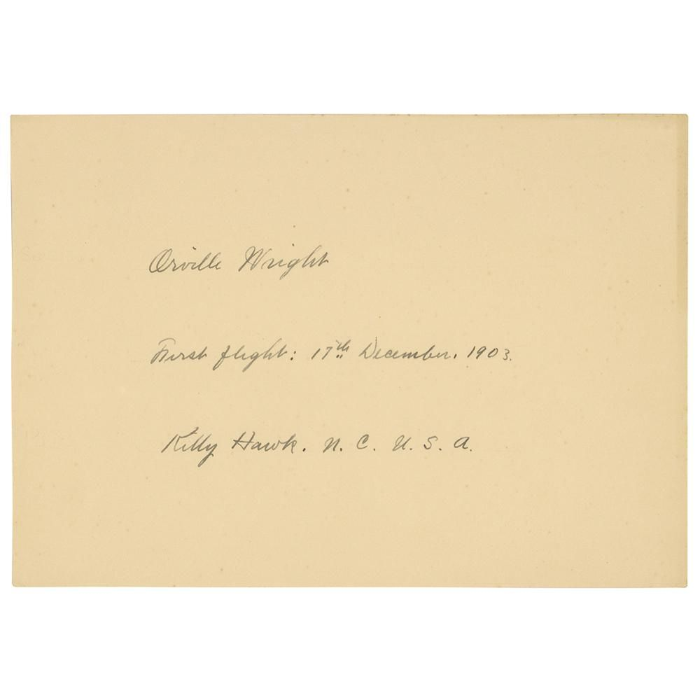 Orville Wright Signature