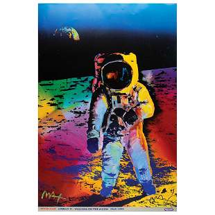 Buzz Aldrin and Peter Max Signed Print