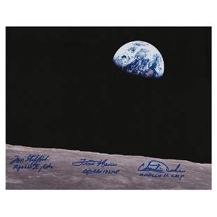 Apollo Earthrise Signed Photograph