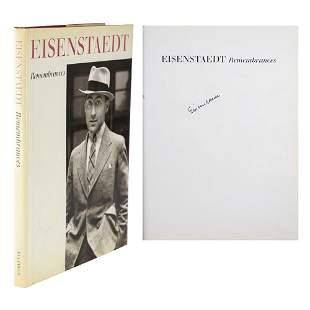 Alfred Eisenstaedt Signed Book