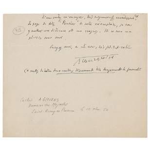 Albert Gleizes Partial Autograph Letter Signed