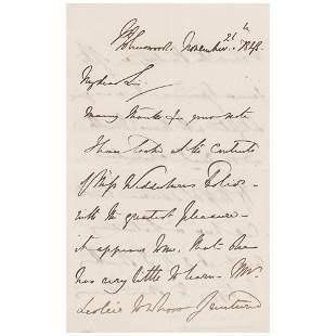 Edwin Landseer Autograph Letter Signed