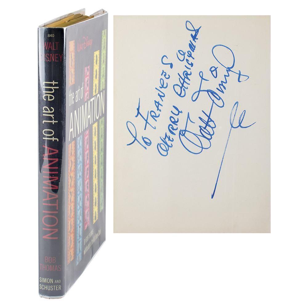 Walt Disney Signed Book