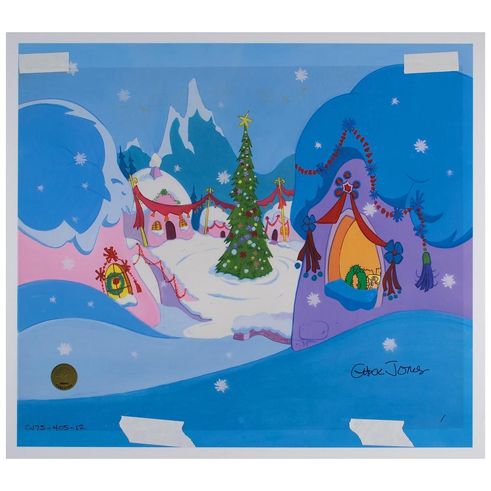 Cindy-Lou Who production cel and drawing from How the