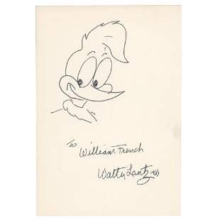 Walter Lantz Signed Sketch