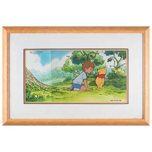 Winnie the Pooh original production cel from Pooh's
