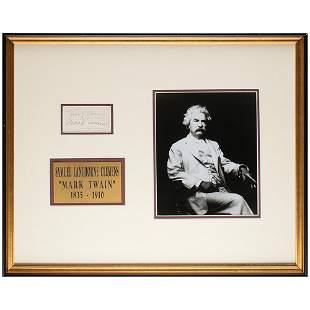 Samuel L. Clemens Signature