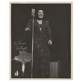 Billie Holiday Signed Photograph
