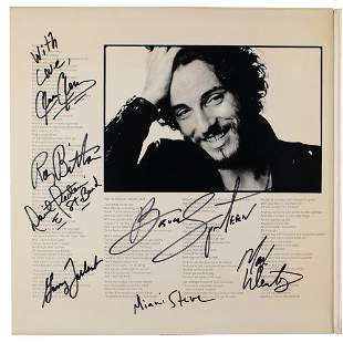 Bruce Springsteen and the E Street Band Signed Album