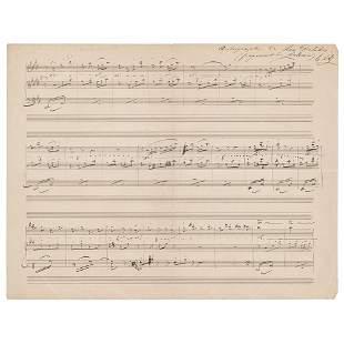 Leo Delibes Autograph Musical Quotation