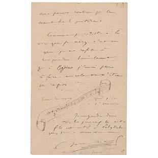 Camille Saint-Saens Autograph Letter Signed