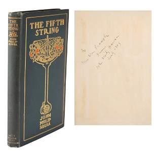 John Philip Sousa Signed Book
