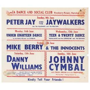 Beatles 1963 Birmingham Handbill