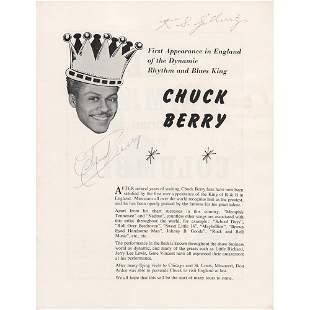 Chuck Berry Signed Program