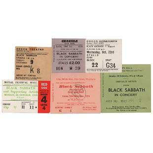 Black Sabbath Lot of (6) Early Ticket Stubs