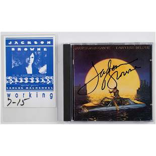 Jackson Browne Signed CD