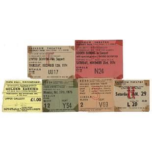 Lynyrd Skynyrd Lot of (6) Early UK Ticket Stubs