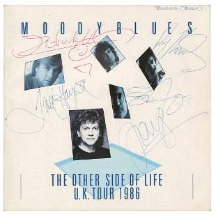 The Moody Blues Signed 1986 Program