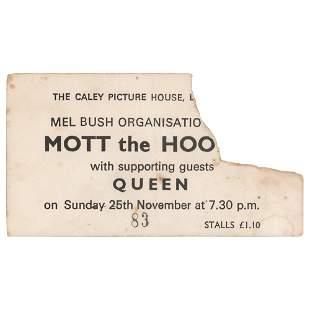 Queen 1973 Edinburgh Ticket Stub