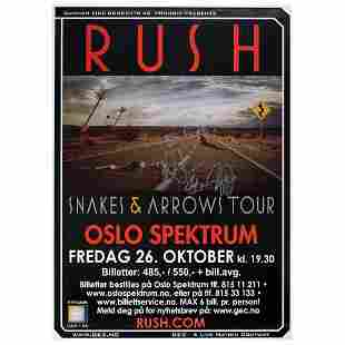 Rush Signed Poster