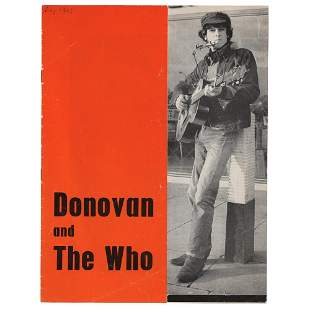 The Who and Donovan 1965 Great Yarmouth Program