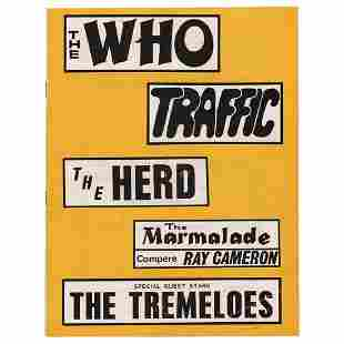 The Who and Traffic 1967 Sheffield Program