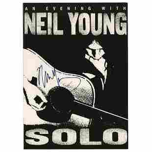 Neil Young Signed Program