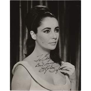 Elizabeth Taylor Signed Photograph