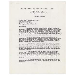 Three Stooges Document Signed