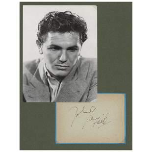 John Garfield Signature