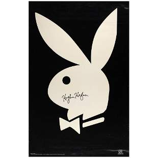 Hugh Hefner Signed Poster