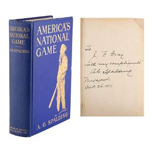 Albert G. Spalding and Abner Doubleday Signed First