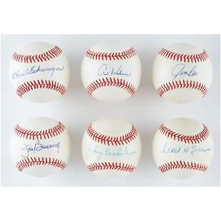 Baseball Greats (6) Signed Baseballs