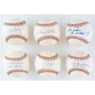 Baseball Hall of Fame Pitchers (6) Signed Baseballs