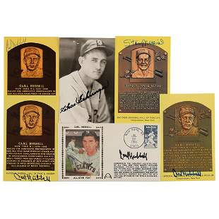 Baseball Hall of Famers (6) Signed Items