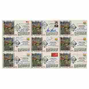 Boston Red Sox (9) Signed Covers with Ted Williams