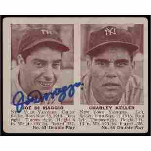 Joe DiMaggio Signed 1941 Double Play Baseball Card