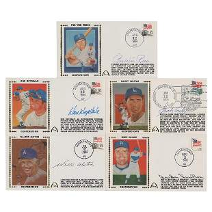 Dodgers Hall of Famers (5) Signed Covers
